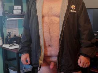 It\'s starting to get chilly here in Idaho, so I decided to get my coat out of the closet to make sure it still fit.  Think I need to wear more?