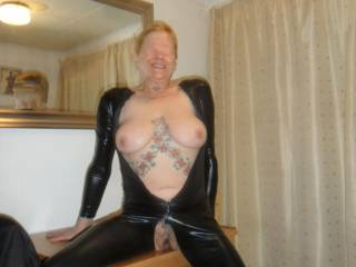 hi all I am expanding my collection of kinky wear hope you like it dirty comments welcome mature couple