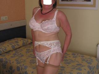 my wife in white