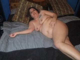 Love you wifes saggy tits, fat belly and big ass