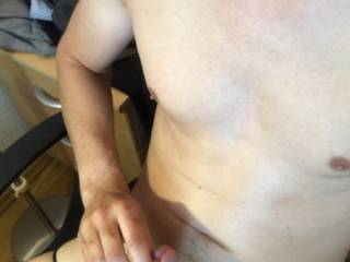 Wearing a string from my gf while wanking
