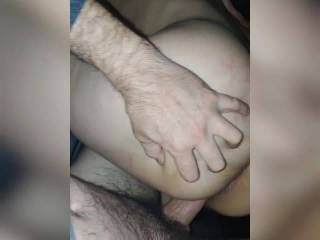 she was very horny, so we end up fucking in the back seat of the car, on our own drive way, what a fuck!