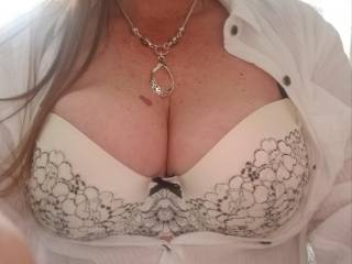 Showing off my new bra is all