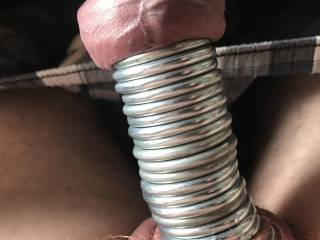 Cock Rings on the outside and some inside my Foreskin. These weren\'t going to fall off.
