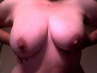 I could suck on your tits all night long.