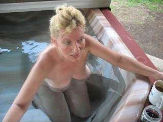 oh man wish u come to my hot tub and we have some fun gorgeous.  what great breasts. very nice.