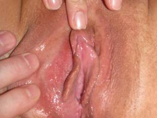 Showing you how swollen my clit is