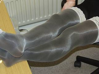 Mmm...double nylons, looks gorgeous!Please keep on posting!