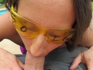 what a good little cock sucker... lucky man :)