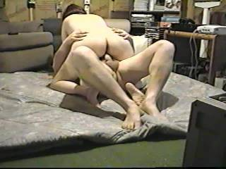 My friend really slammed my wife's cunt good in this one. You can see her cum all over his cock.