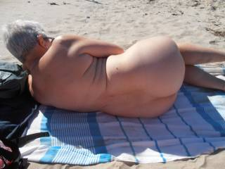 Found a nudist beach and we both stripped off