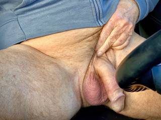 Wanking in car, hoping someone pass by caught me.  Would you like to watch me?