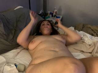 Will you cum all over my big tits