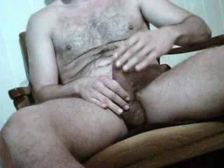 id love to do that for you.  Nice cock and balls and nice jizz.