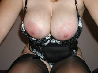 Only thing that would make this better would be to have my hard cock stuffed between those sexy tits....and a load of my hot sticky cum dripping off of those sweet nipples!