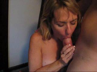 my fav milf sucking dick and getting a facial.