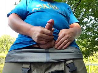 Part 2/2:  This is the second part of me out on the river masturbating.  It ends in a very nice cumshot so I hope you enjoy!  :)