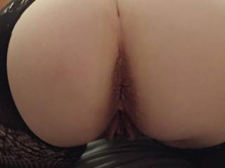 My wife\'s beautiful ass... who wants there cock  massaged  By her wet pussy?
