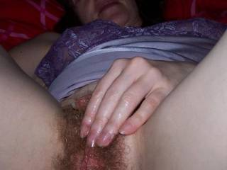 I\'m a 51 Year Old MILF, love my hairy cunt fingering.  Let me know what you would want to do with my Hairy Hole, I love to spread my legs open wide