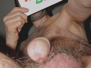 Another frontal view of my balls & dick from below.
