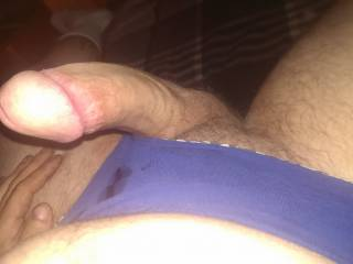 Just wearing bootyfulmilfs panties and leaking Precum all over
