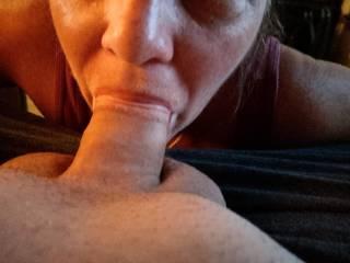 sucking hubby dick
