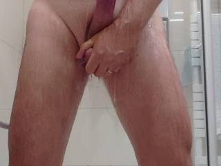 Playing under shower after a Zoig session