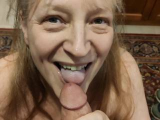 Does my mouth and white tongue prove it? I love cum!! Ready for this married woman to drain your throbbing cock? Watch my video to show you how I love a cock.