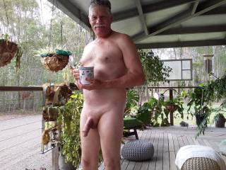 Just enjoying a horny moment on my veranda any ladies like to join me?
