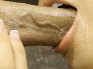 Taking His Hard Cock Down My Throat...