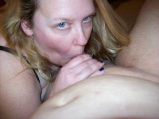 Lupo\'s wife sucking my cock as her hubby watched and worked the cam for a zoig webcam show
