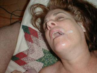 I'l lick the cum up and share it with you with French kisses.