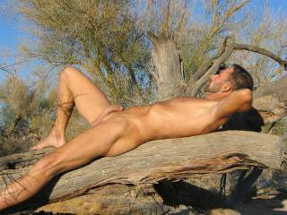 Nudist relaxing and enjoying the warm sun,,,,,,,company always welcome,,,,,,