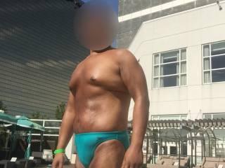 Bikini, speedo, thongs, underwear, sunbathing, outdoors, Waterclub