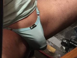 Cooling the desire to be fully erect.  Control is one thing, but the panties can stop the full bursting by trapping the cock in the tight material