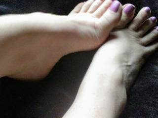 Sexy pink pedicure