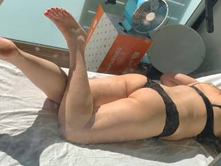 Licking some sun and would you lick me?
