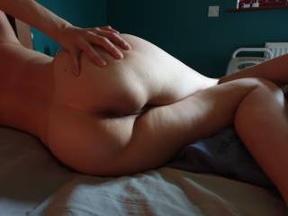 Opening my ass for you, I want you to tongue me real good