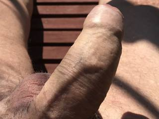 The sun on my cock is getting me horny