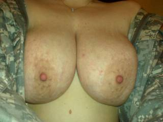 nice tits be happy to shoot a big creamy load over them for you
