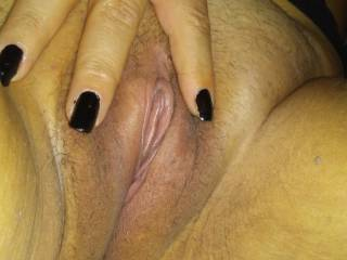 My lovely wifes pretty pink pussy!!