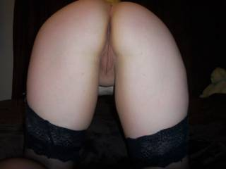 can just picture slipping my cock in that silky,sweet pussy and fucking you doggie style!