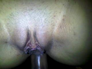 fucking her hot phat pussy then sliding my cock into her tight ass!