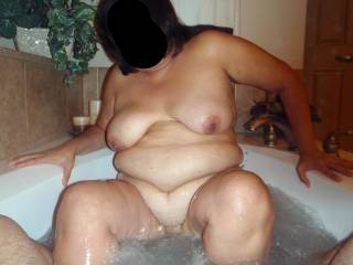 Bath time...wanna join me?  A clean cock is a sucked cock in my bathtub!