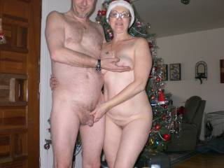 What a lovely looking couple you make. Great photo.