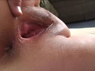 wow   what a hole  i wanna bury my face in it and eat until you beg me to stick my hard cock in  Then after an hr of fucking you  i will dump my cum in the HOLE   mmmmmmmmm   Gotta jack off now Thanks
