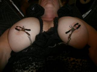 I just love playing with her tits. She really likes it with I do different things to them. In our swing.