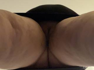 upskirt photo of pet waiting for her punishment. I hope you like her pussy. I've enjoyed the taste of it all morning. She begged me to cum, but she's on a 30 day no orgasm compliance activity. Do you want pet to succeed or fail?