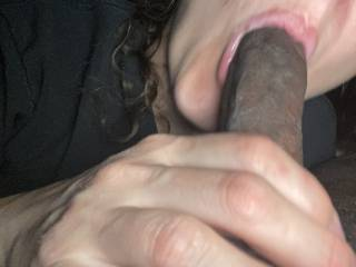 She has a mouth full