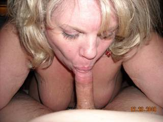 Mrs Daytonohfun working my cock over.  She is a worldclass cocksucker